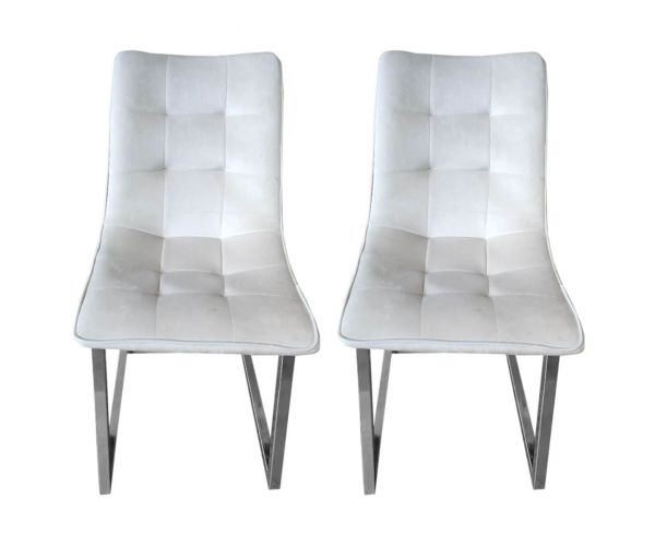 Derrys Furniture Ollie Royal Cream Dining Chair in Pair
