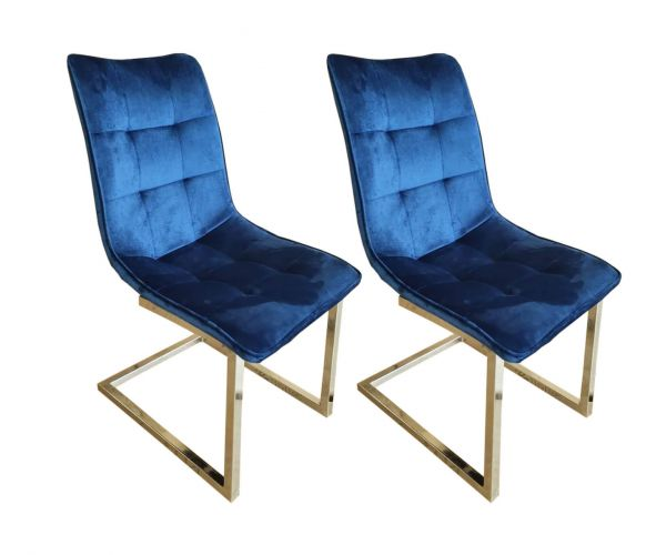 Derrys Furniture Ollie Royal Blue Dining Chair in Pair
