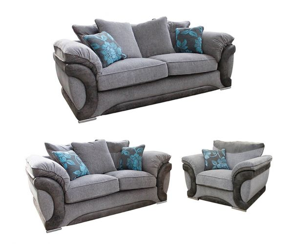 Buoyant Upholstery Omega Fabric 3+2+1 Sofa Set