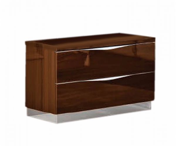 Camel Group Onda Walnut High Gloss 2 Drawer Night Table