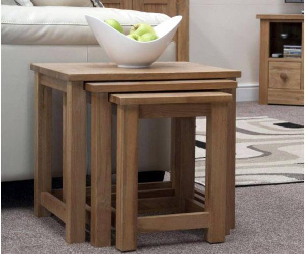 Homestyle GB Opus Oak Triple Nest Of Tables