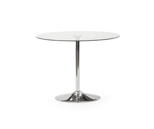 Vida Living Orbit Clear Glass 100cm Dining Table only