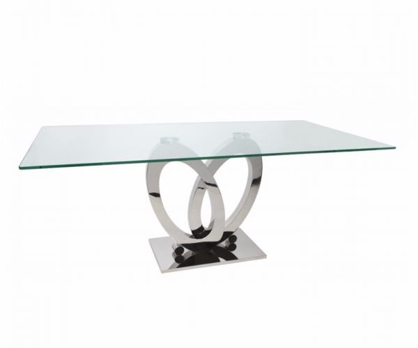 Greenapple Furniture Orion Glass Dining Table Only