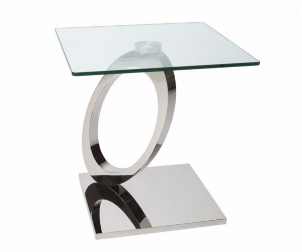 Greenapple Furniture Orion Glass Lamp Table