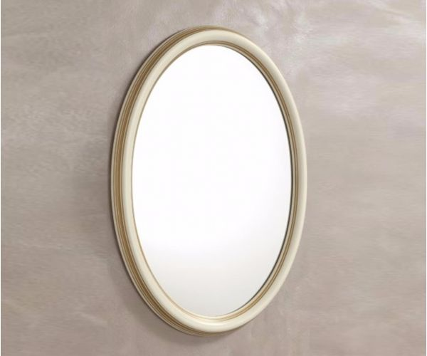 Camel Group Treviso White Ash Finish Oval Mirror