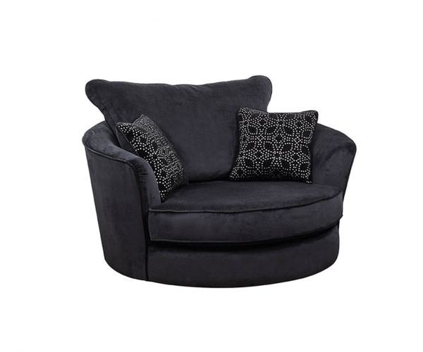 Buoyant Upholstery Paris Fabric Swivel Chair