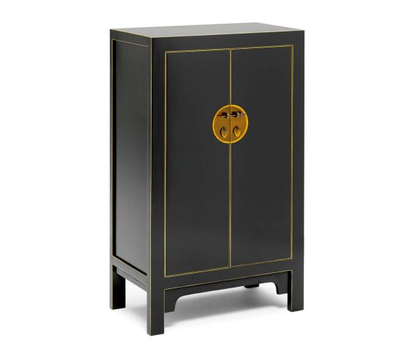 Baumhaus The Nine Schools Qing Black and Gilt Medium Cabinet
