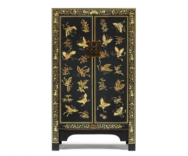 Baumhaus The Nine Schools Oriental Decorated Black Medium Cabinet