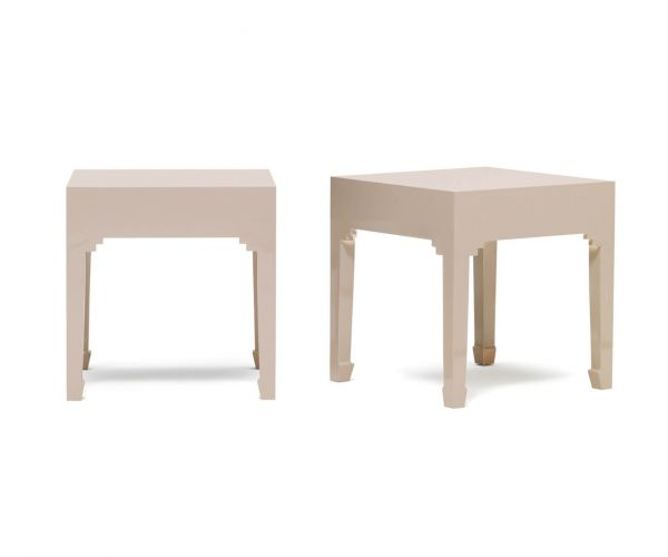 Baumhaus The Nine Schools Qing Oyster Grey Pair of Lamp Tables
