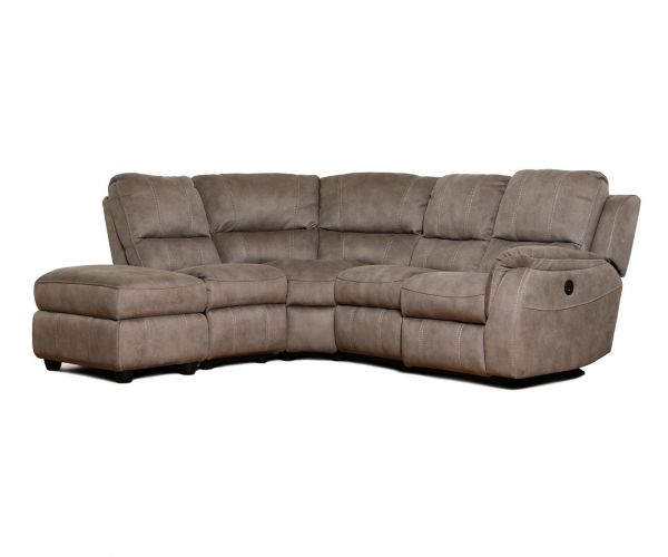 GFA Virginia Pecan Fabric Right Hand Facing Corner Recliner Sofa
