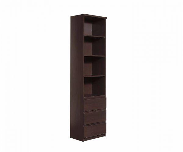 FTG Pello Tall Narrow 3 Drawer Bookcase