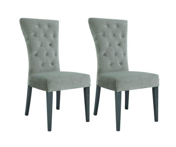 Vida Living Pembroke Taupe Dining Chair in Pair