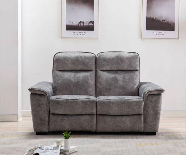 GFA Peru Liquorice Fabric 2 Seater Sofa