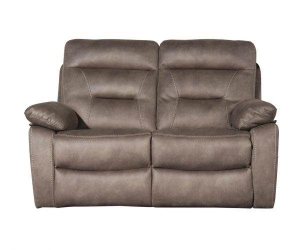 Sweet Dreams Rome Pecan Fabric Manual Recliner 2 Seater Sofa