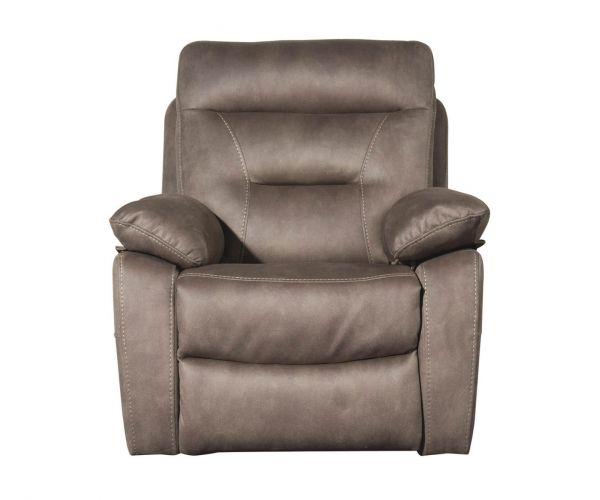 Sweet Dreams Rome Pecan Fabric Manual Recliner chair