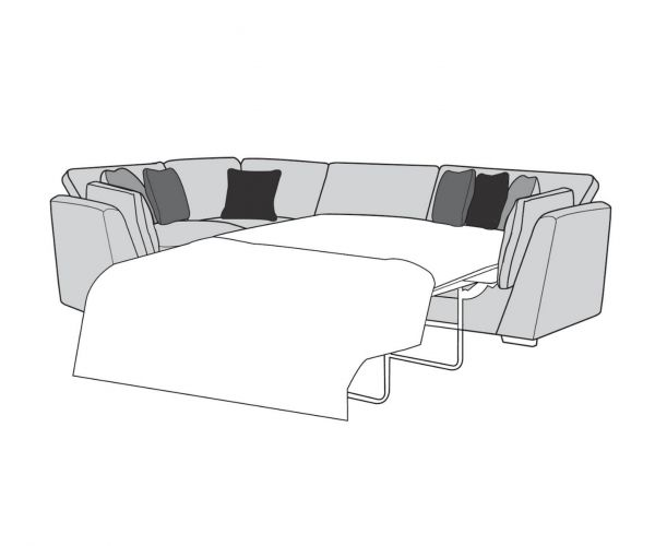 Buoyant Upholstery Phoenix Fabric Corner with Sofa Bed (R2S, L1, CO)