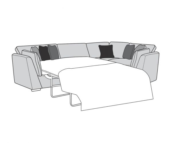 Buoyant Upholstery Phoenix Fabric Corner with Sofa Bed (L2S, R1, CO)