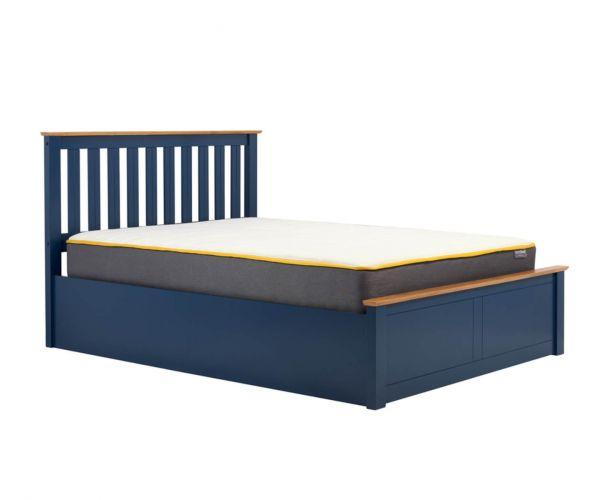 Birlea Furniture Phoenix Navy Blue Ottoman Bed Frame