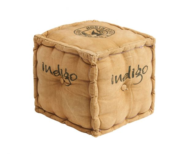 Indian Hub Seeba Square Footstool