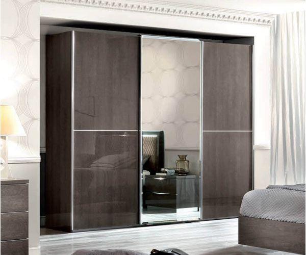 Camel Group Elite Silver Birch 3 Sliding Door Wardrobe with Mirror