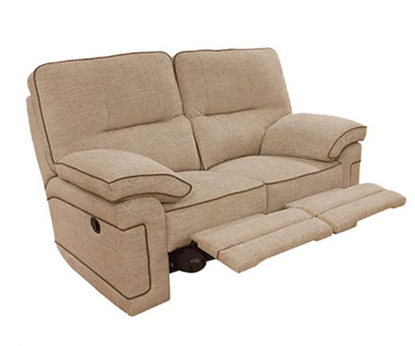 Buoyant Upholstery Plaza Fabric 2 Seater Recliner Sofa