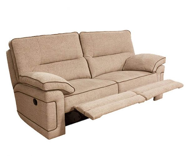 Buoyant Upholstery Plaza Fabric 3 Seater Recliner Sofa