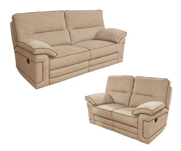 Buoyant Upholstery Plaza Fabric Recliner 3+2 Sofa Set
