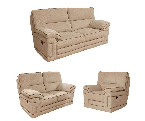 Buoyant Upholstery Plaza Fabric Recliner 3+2+1 Sofa Set