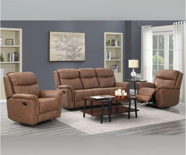 Annaghmore Portland Dark Taupe Fabric 3+1+1 Sofa Suite