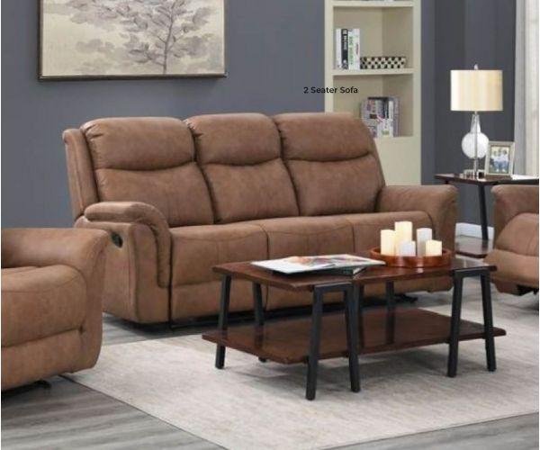 Annaghmore Portland Dark Taupe Fabric 2 Seater Sofa