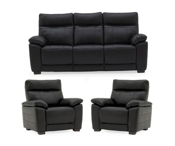 Vida Living Positano Black 3+1+1 Sofa Set