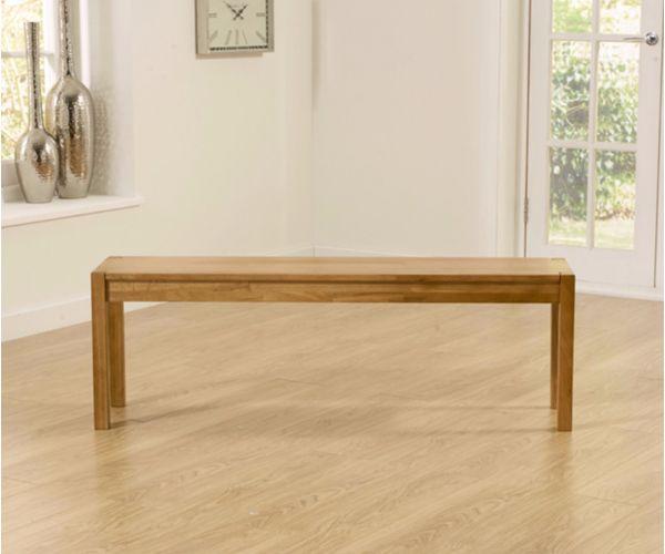 Mark Harris Promo Solid Oak Medium Dining Bench