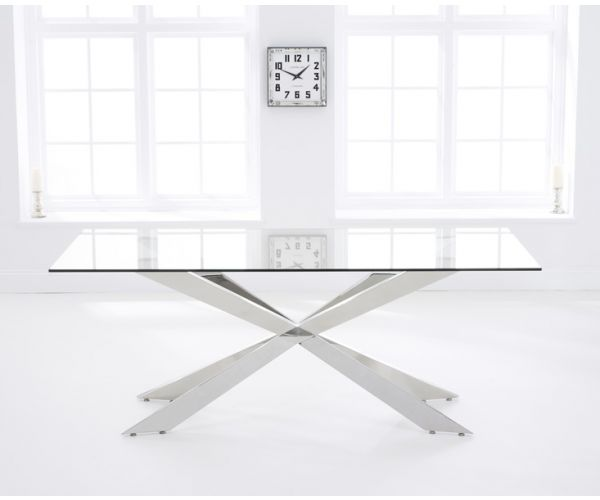 Mark Harris Jazz Large Glass Dining Table Only