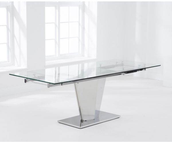 Mark Harris Lucille Extending Glass Dining Table Only