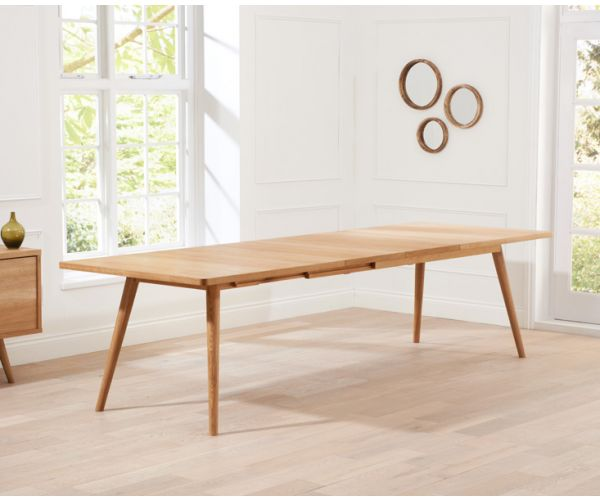 Mark Harris Tribeca Oak Large Extending Dining Table Only
