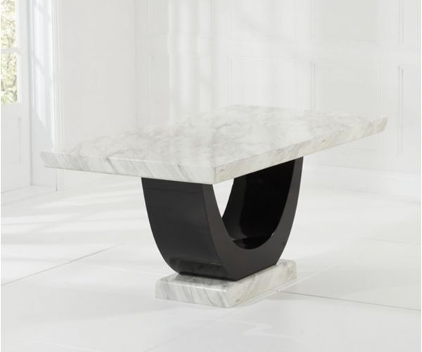 Mark Harris Rivilino Cream and Black Constituted Marble Dining Table