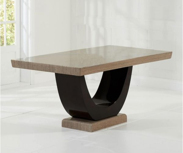 Mark Harris Rivilino Brown Marble Dining Table Only