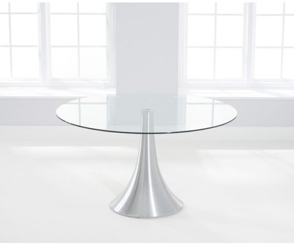 Mark Harris Petra Round Glass Dining Table Only