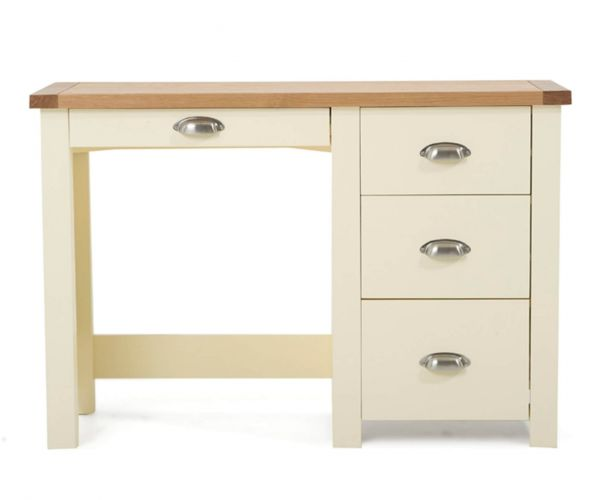 Mark Harris Sandringham Oak and Cream Single Pedestal Dressing Table