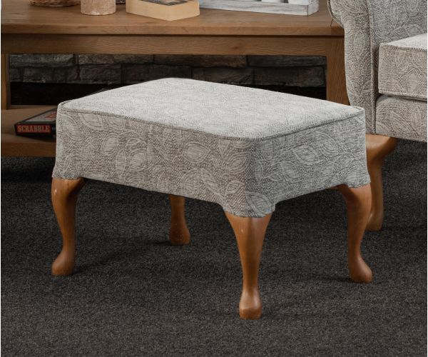 Sweet Dreams Queen Anne Fabric Stool