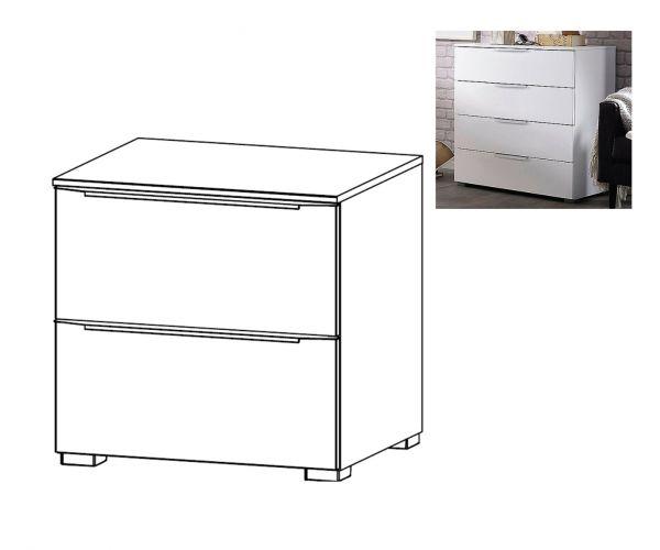 Rauch Aldono Deluxe Sanremo Oak Light Carcase 2 Drawer Bedside Table- W 50cm