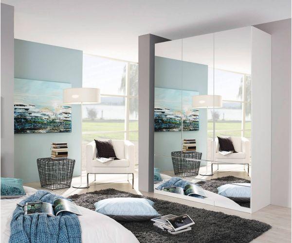 Rauch Zenaya Silk Grey 3 Mirror Door Wardrobe
