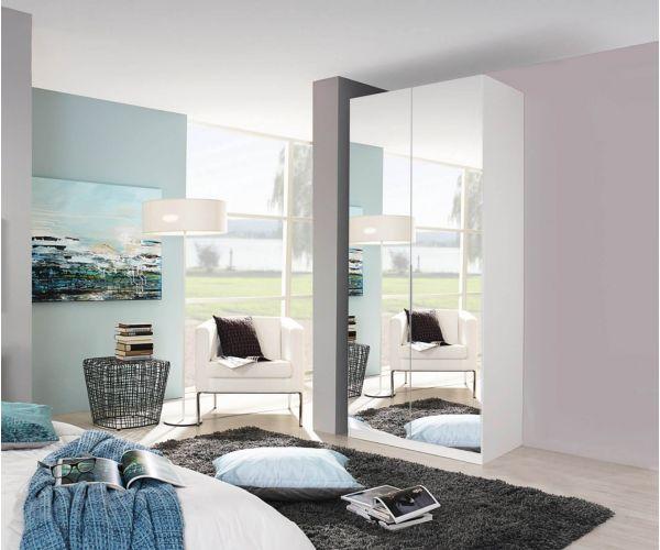 Rauch Zenaya Silk Grey 2 Mirror Door Wardrobe