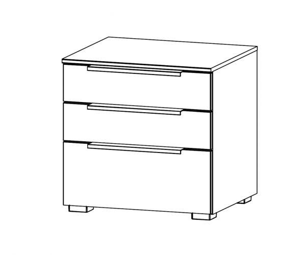 Rauch Zenaya Royal Walnut Colour 3 Drawer Bedside Cabinet
