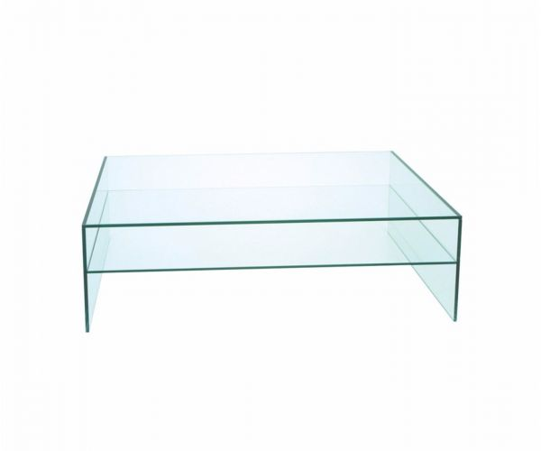 Greenapple Furniture Glass Rectangular Coffee Table