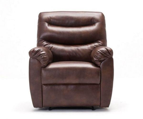 Birlea Furniture Regency Bronze Brown Faux Leather Recliner Chair