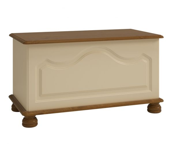 Steens Richmond Cream and Pine Ottoman