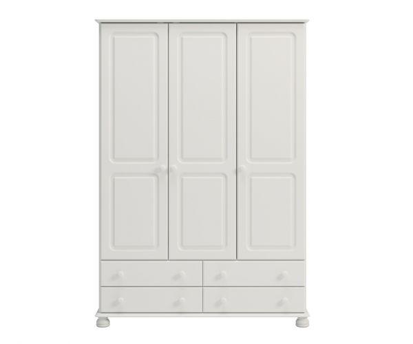 Steens Richmond White 3 Door 4 Drawer Wardrobe