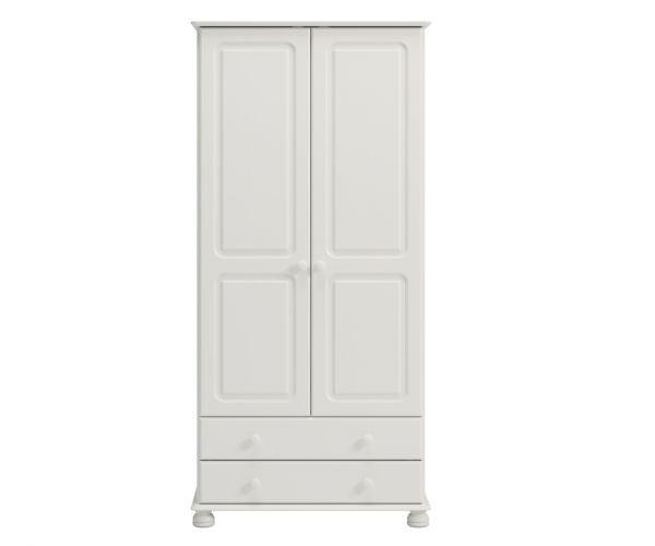 Steens Richmond White 2 Door 2 Drawer Wardrobe