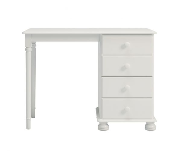 Steens Richmond White Single Pedestal Dressing Table